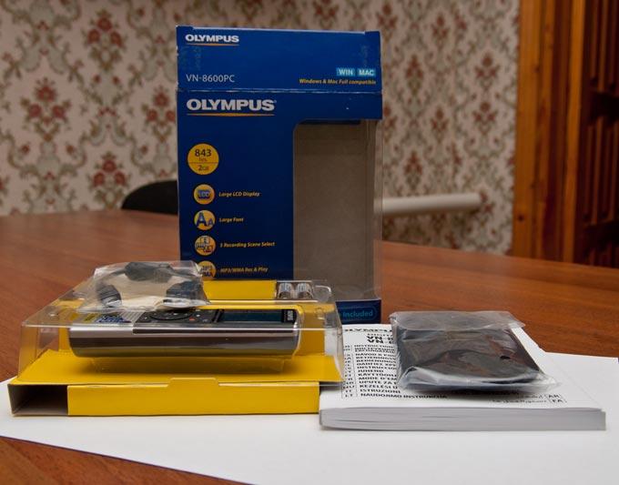 Инструкция Диктофон Olympus Vn 8500Pc
